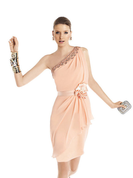 prom dress cuff bracelet pink dress draped graduation dress