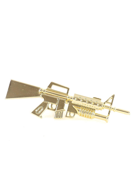 Amazon.com: ar15 rifle double ring m16 military gun double band rk00 statement fashion jewelry: jewelry