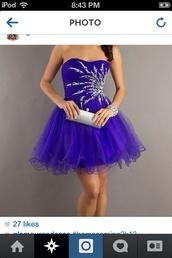 dress,purple dress,short dress,strapless dress,blue dress,sparkle