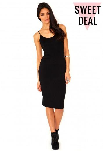Michelle Value Strappy Midi Bodycon Dress - dresses - missguided