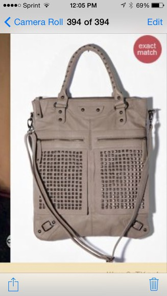 bag purse grey studs big purse i need this!!!!!
