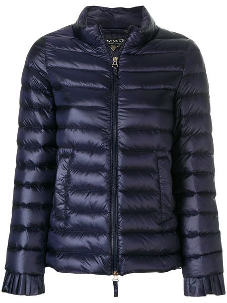 Twin-Set jacket puffer jacket women blue