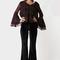 Black coral leggings in velluto nero - lemlo online shop