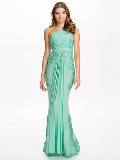 dress mint evening dress