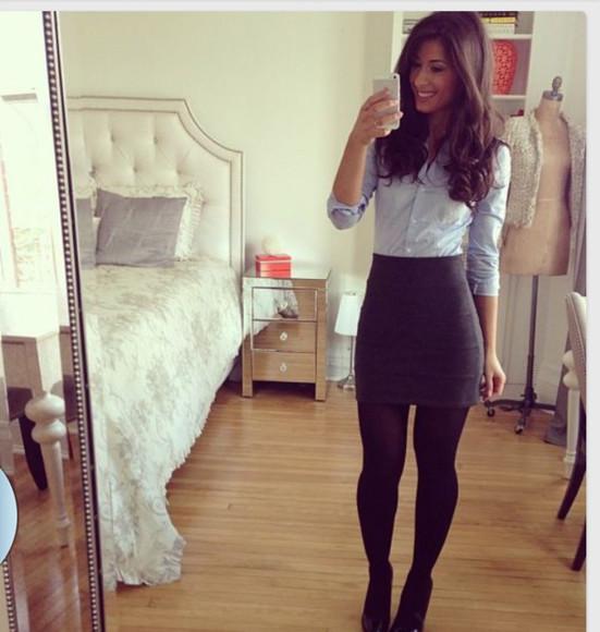 blouse long sleeves dressy tops light blue