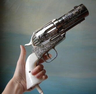 hair accessories hairstyles pistol gun vintage hairdryer technology funny home accessory