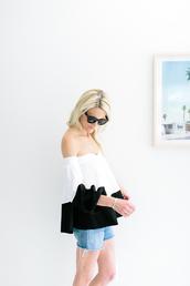 luella & june,blogger,sunglasses,top,shorts