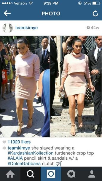 blouse kim kardashian nude dress nude