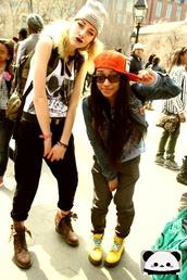 hat,pants,snapback,beanie,shirt,denim jacket,backpack,belt,sunglasses,boots,dc martens