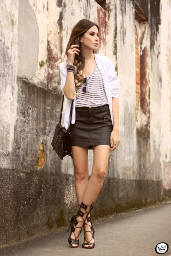 fashion coolture blogger jacket sunglasses bag skirt