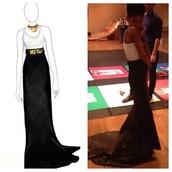 dress,willow smith,black,gold,belt,msfts