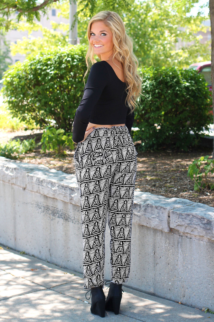 Tribal Printed Pants | uoionline.com: Women's Clothing Boutique