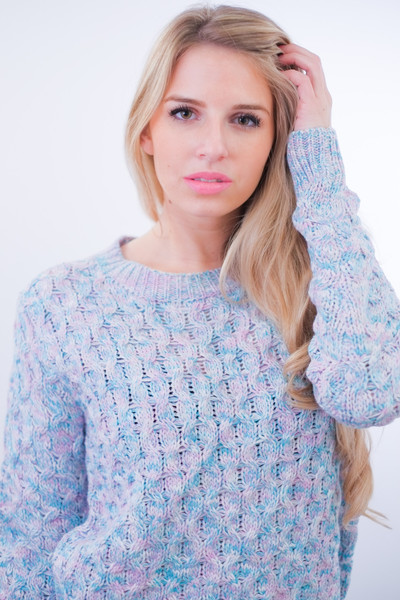 The Chiara Pastel Crochet Sweater – Glamzelle