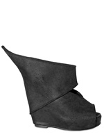 RICK OWENS - 140MM TEXTURED CALF OPEN TOE WEDGES and other Women's Rick Owens Clothing & Accessories (9616116)