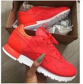 shoes,trainers,red,reebokredorange,Reebok,sneakers,rihanna,kim kardashian,nike,chanel,black dress,red dress,vanessa hudgens