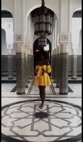 dress,yellow,yellow dress,yellow skirt,set,two piece dress set,summer,summer dress,summer outfits,bow,yellow top