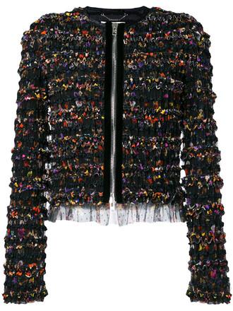 jacket mesh women spandex black