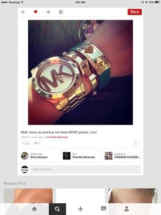 jewels michael kors watch gold bracelets watch