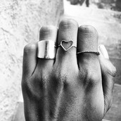 jewels,ring,silver,gold,heart,cuff,rose gold,bronze,black and white