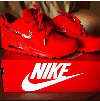 shoes red nike air max kicks sneakers fashion dope celebrity style trendy clothes pattern red air max trainers