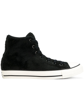fur faux fur women sneakers black shoes