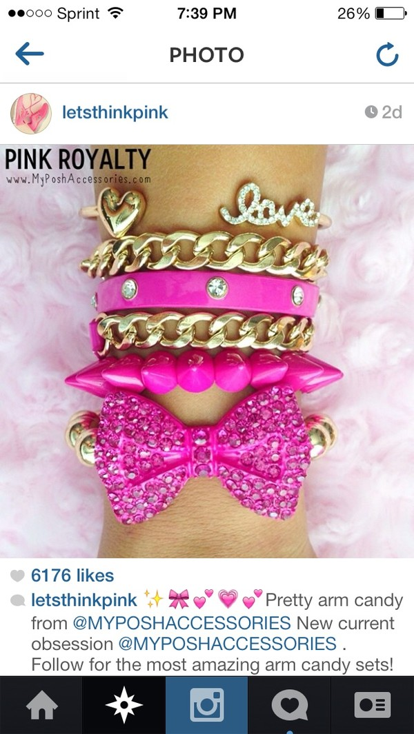 jewels pink bow