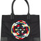 Tory burch - ella packable tote - women - leather/nylon - one size, black, leather/nylon