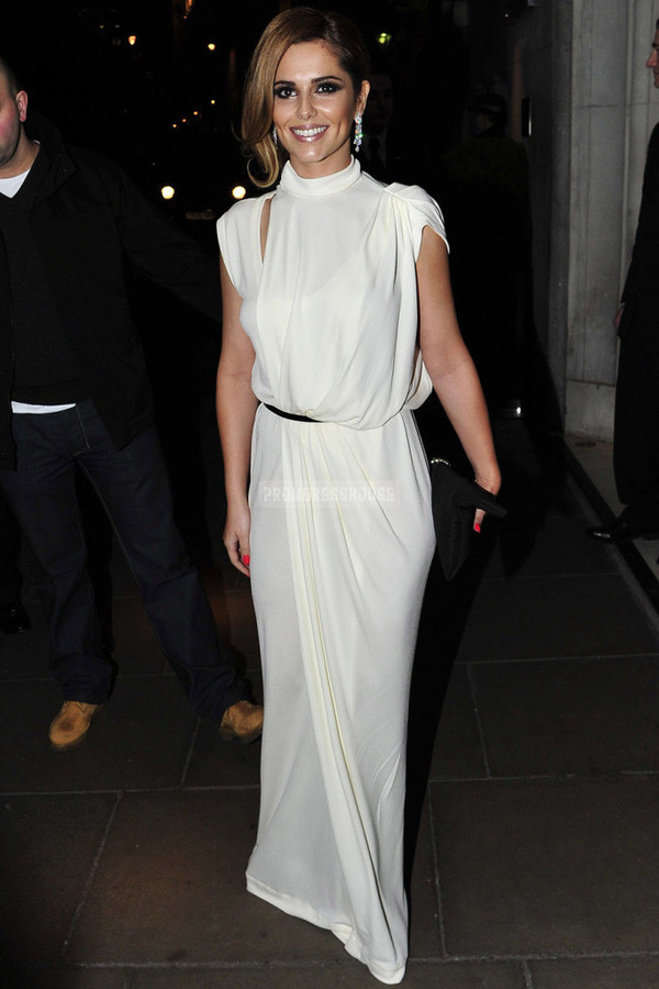 white dress fashion dress celebrity style party dress