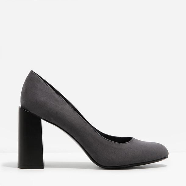 heel pumps grey shoes