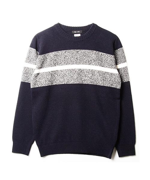 Der rohe hudson block sweater (navy)