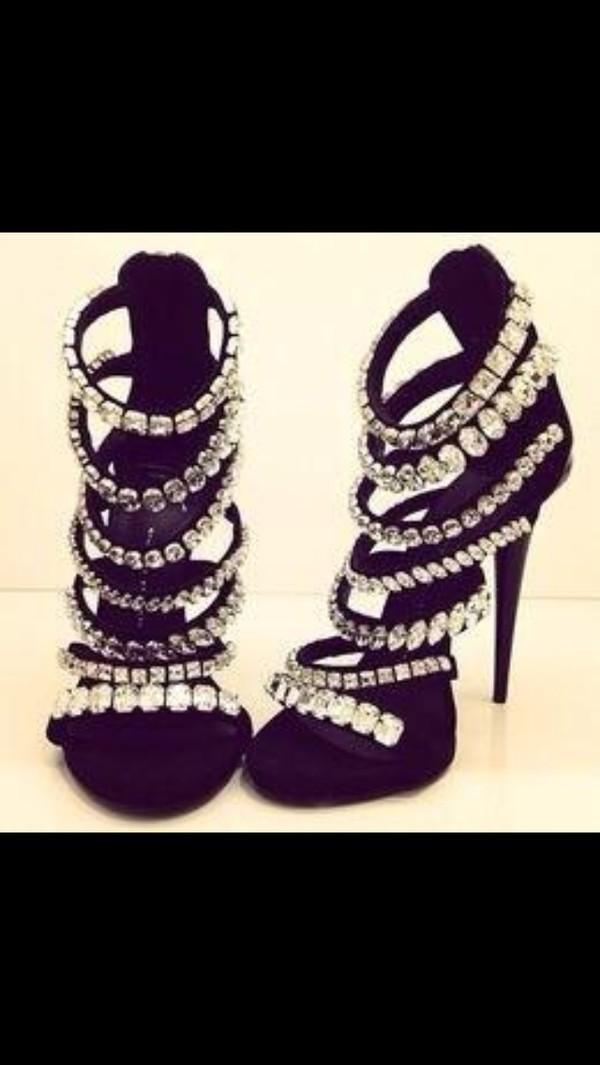 shoes heels rhinestones sparkle