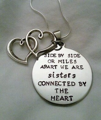 jewels necklace sisters bff new years resolution sister silver