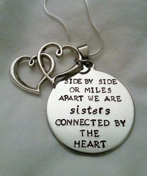 jewels necklace sisters bestfriends