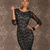 Round Neck Long Sleeve Lace Sexy Bodycon Pencil Dress : KissChic.com