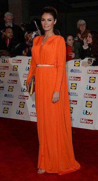 dress prom dress maxi dress orange dress chloe sims