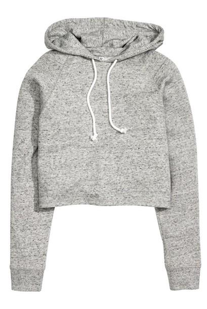 sweater hoodie cropped hoodie cropped sweater grey