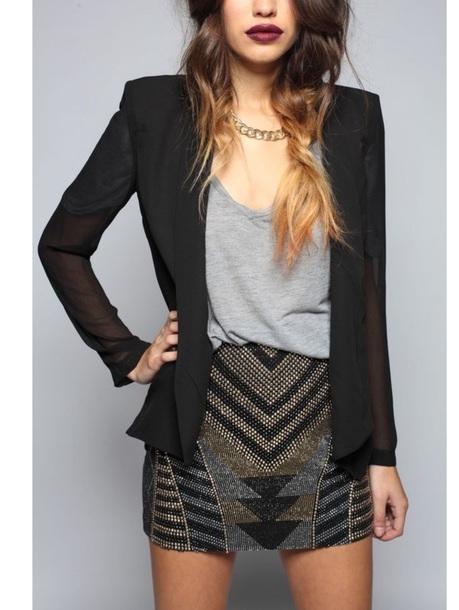 skirt black embellished mini skirtt