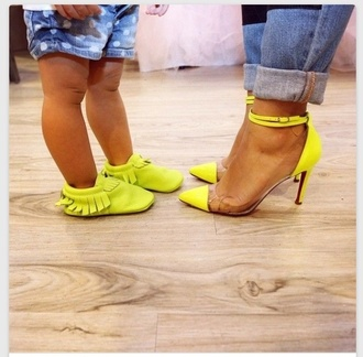 girls jeans polka dots polka dot jeans fashion kids fashion fashion kids clear heels moccasins kids moccasins mommy & me mother and child mommy and daughter fashion yellow kids shoes