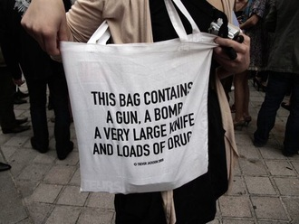bag funny quote on it
