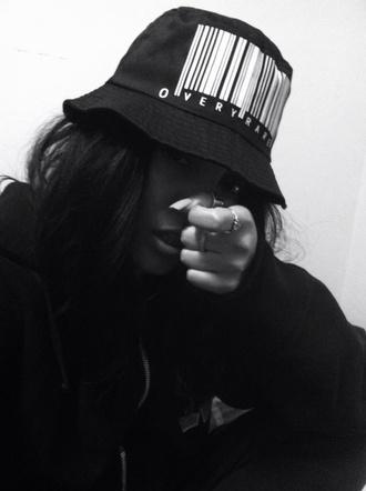 hat black bucket hat barcode black and white gorgeous urban black hat dope sick rihanna sweet pretty best fashion killa very rare bar code fashion