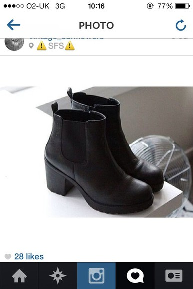 shop shoes grunge black tumblr girl boots