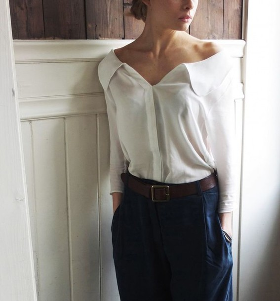 77e238413 shirt top blouse white summer sheer see through button up button up blouse  long sleeves button