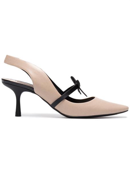 Fabrizio Viti women pumps leather nude shoes