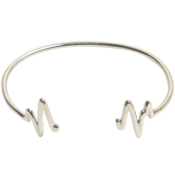Joyus - Heartbeat Bangle in Silver