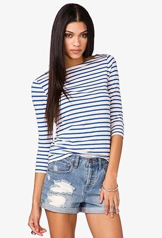 blouse navy cotton breton stripes boat neckline dress coco chanel sweater