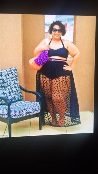 skirt black swim cover