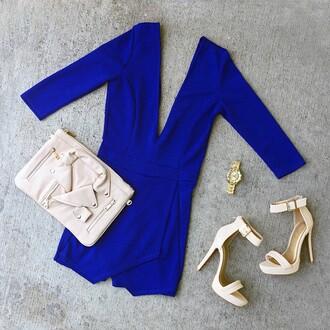 romper skorts skirt jumpsuit formal casual wedding royal blue outfit semi formal gojane