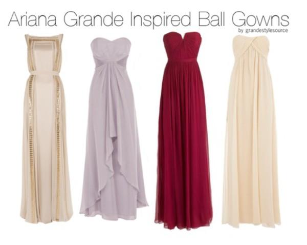 ariana grande white dress burgundy dress graduation dresses gown pretty little liars pretty solid color flowy dress long dress sleeveless