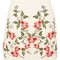 Floral embroidered skirt - cream