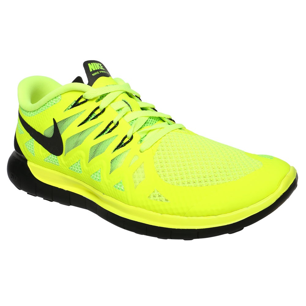 nike free 5 0 men 39 s running shoes volt black. Black Bedroom Furniture Sets. Home Design Ideas